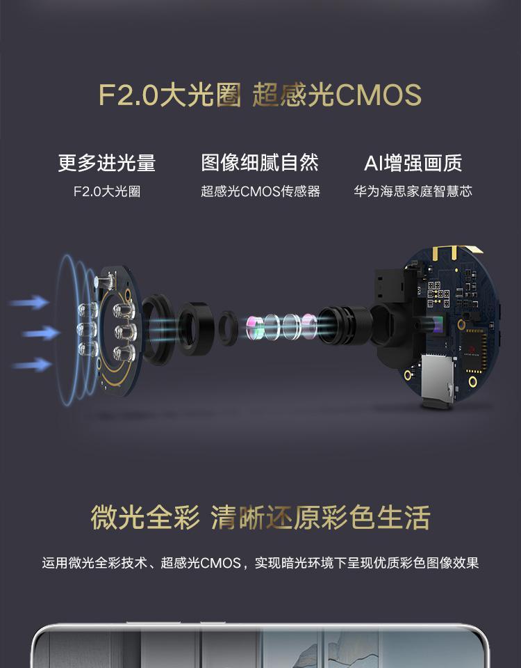 家电产品三包_【华为HQ8】华为(HUAWEI)海雀AI摄像头云台高清版HQ8(白色)